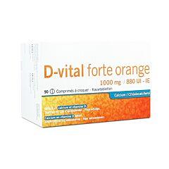 D-Vital Forte Orange 1000mg/880UI 90 Comprimés à Croquer