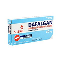 Dafalgan Pediatrie 80mg 12 Zetpillen