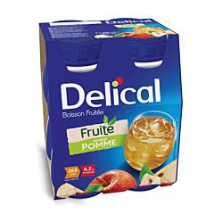 Delical Boisson Fruitée Pomme Bouteille 4x200ml