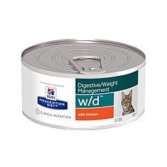 Hills Prescription Diet Feline Digestive/Weight Management w/d au Poulet 156g
