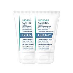 Ducray Hidrosis Control Anti-Transpirant Crème Handen/Voeten/Gelaat  2x50ml Promo 2de - 50%