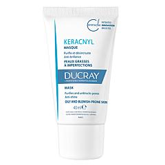 Ducray Keracnyl Masque Triple Action Peaux Grasses à Imperfections Tube 40ml