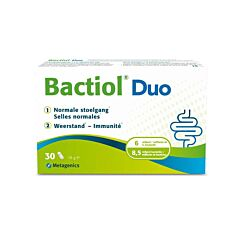 Bactiol Duo Normale Stoelgang/ Weerstand 30 Capsules (Vroeger Probactiol Duo)