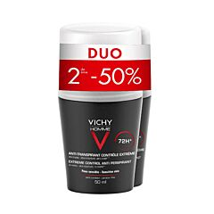 Vichy Homme Déodorant Anti-Transpirant 72h Roll-On PROMO Duo 2x50ml
