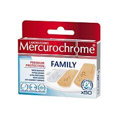 Mercurochrome Family Pansements 50 Pièces