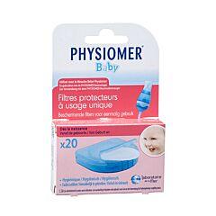 Physiomer Filtres Protecteurs Jetables pour Mouche Bébé 20 Pièces