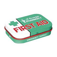 First Aid Bonbons à la Menthe Boîte Métalisée 15g