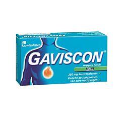 Gaviscon Munt 250mg 48 Kauwtabletten
