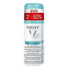 Vichy Déodorant Anti-Transpirant 48h Anti-Traces Jaunes et Blanches Spray PROMO Duo 2x125ml