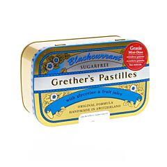 Grethers Pastilles Blackcurrant Cassis Sans Sucre Boîte 440g