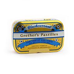 Grethers Pastilles Blackcurrant Cassis Boîte 110g