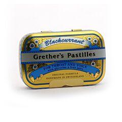 Grethers Pastilles Blackcurrant Cassis Boîte 60g