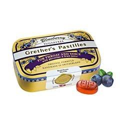 Grethers Pastilles Blueberry Myrtille Sans Sucre Boîte 110g
