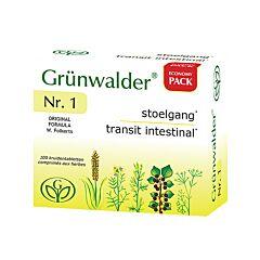 Grünwalder Nr.1 Transit Intestinal 100 Comprimés aux Herbes