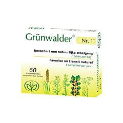 Grünwalder Nr.1 Natuurlijke Stoelgang 60 Tabletten NF