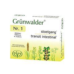 Grünwalder Nr. 1 Transit Intestinal 60 Comprimés NF