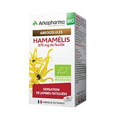 Arkopharma Arkogélules Hamamelis Bio Jambes Fatiguées 45 Gélules NF