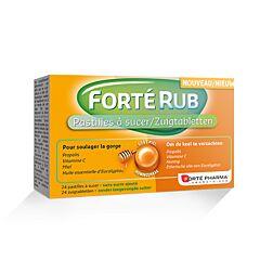 Forté Pharma FortéRub Goût Miel 24 Pastilles à Sucer