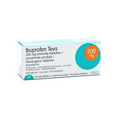 Ibuprofen Teva 200mg 30 Omhulde Tabletten