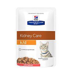 Hills Prescription Diet Feline Kidney Care k/d au Saumon 85g