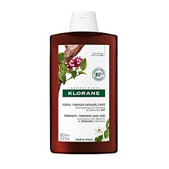 Klorane Force Shampooing à la Quinine & Edelweiss Bio Cheveux Fatigués & Chute Flacon 400ml