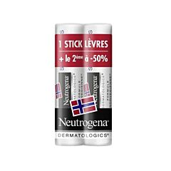 Neutrogena Stick Lèvres IP20 PROMO DUO 2x4,8g