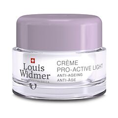 Louis Widmer Pro-Active Light Nachtcrème Zonder Parfum 50ml