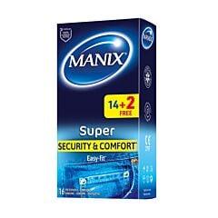 Manix Super Security & Comfort Easy-Fit PROMO 14 Préservatifs + 2 GRATUITS
