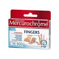 Mercurochrome Fingers Pansements Doigts 12 Pièces