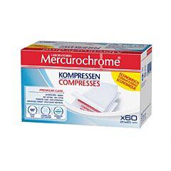 Mercurochrome Compresses Stériles 20cmx20cm 60 Pièces
