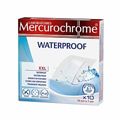 Mercurochrome Steriele Waterproof Pleisters XXL 10 Stuks