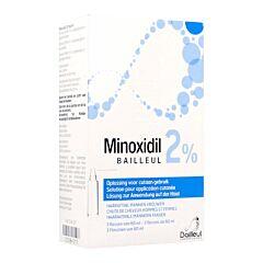 Minoxidil Biorga 2% Haaruitval Mannen / Vrouwen Fles 3x 60ml
