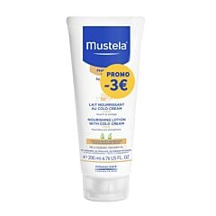 Mustela Voedende Melk Cold Cream - Droge Huid 200ml Promo - €3