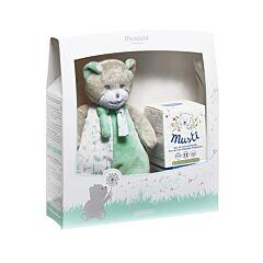 Mustela Coffret Cadeau Musti Vert Eau de Soin Parfumée 50ml + Peluche 1 Pièce