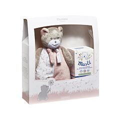 Mustela Musti Roze Geschenkkoffer Verzorgingswater 50ml + Knuffelbeer 1 Stuk