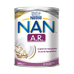 Nan A.R. Régurgitations Lait en Poudre 0-12 Mois 800g NF