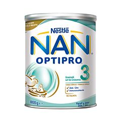Nan Optipro 3 Lait de Croissance en Poudre +1 an 800g