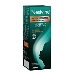 Nesivine 0,025% Pédiatrie Sine Conservans Solution pour Pulvérisation Nasale Enfants de 2 à 6 Ans Spray 10ml