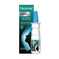 Nesivine 0,05% Solution pour Pulvérisation Nasale Adultes & Enfants dès 7 Ans Spray 10ml