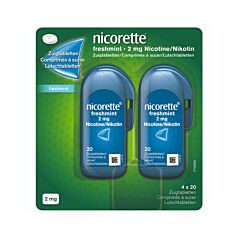 Nicorette Freshmint 2mg 4x20 Zuigtabletten