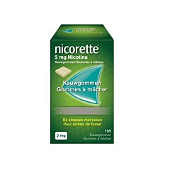 Nicorette 2mg Neutraal 105 Kauwgommen