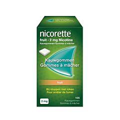 Nicorette 2mg Fruit 105 Kauwgommen