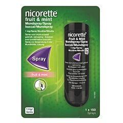 Nicorette Fruit & Mint 1mg/Spray Solution pour Pulvérisation Buccale 150 Doses
