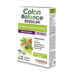 Ortis Colon Balance Regular Ballonnements 36 Comprimés Soir + 18 Comprimés Matin