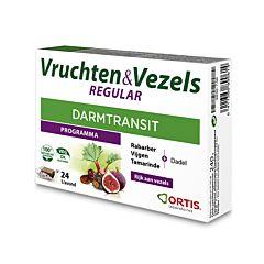 Ortis Fruits & Fibres Regular Transit Intestinal 24 Cubes à Mâcher