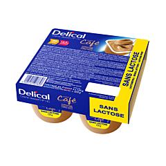 Delical Crème Dessert HP-HC Sans Lactose Café Pot 4x125g