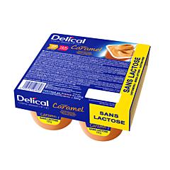 Delical Crème Dessert HP-HC Sans Lactose Caramel Pot 4x125g