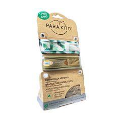 Parakito Adultes Bracelets Anti-Moustiques Ananas/Kaki 1+1 GRATUIT + 2 Recharges
