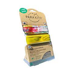 Parakito Adultes Bracelets Anti-Moustiques Flowers/Jaune 1+1 GRATUIT + 2 Recharges