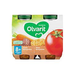 Olvarit Pâtes Bolognaise 8m+ 2x200g